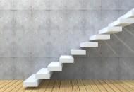 Concept or conceptual white stone or concrete stair or steps nea
